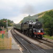 Steam train on the Swanage Railway